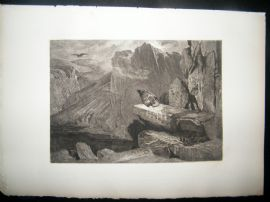 Charles Murray after Edwin Landseer 1885 Etching. The Eagles Nest